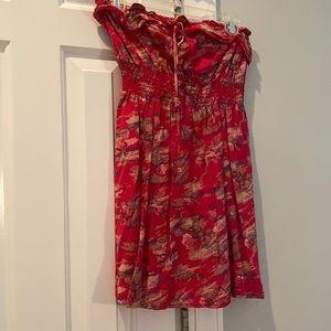 Red Strapless Sundress